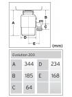 Измельчитель пищевых отходов InSinkErator Evolution 200